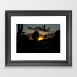 California Sun Framed Art Print