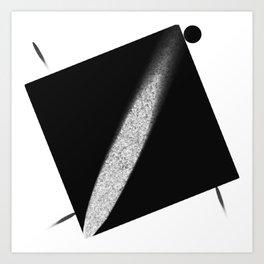 White Flash on Black Art Print