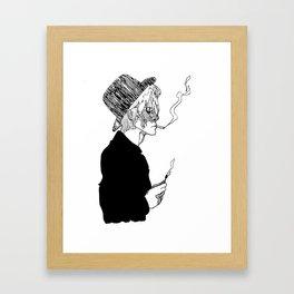 just visiting. Framed Art Print