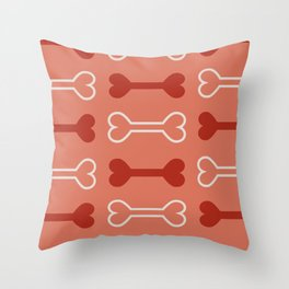 Bone surface pattern (red) Throw Pillow