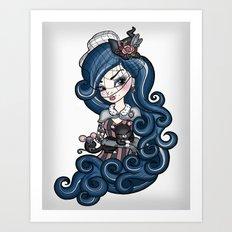 The Cat Mistress Art Print