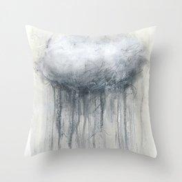Rainy Cloud Throw Pillow