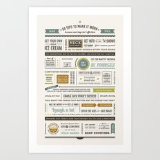 50 Marriage Tips •Spring Colors Art Print