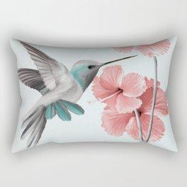 Hummingbird with Hibiscus Rectangular Pillow