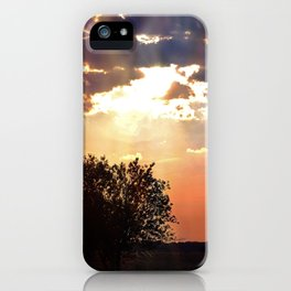 Evening sun in the Dutch countryside iPhone Case