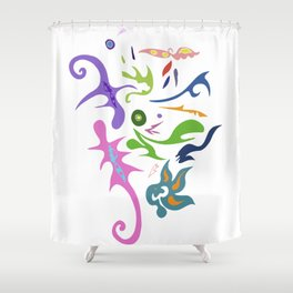 My pieces of invisible worlds Shower Curtain
