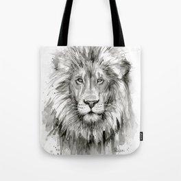Lion Watercolor Tote Bag