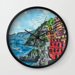 Viareggio, Cinque Terre Wall Clock