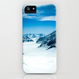 Jungfrau Mountain, Switzerland. Landscape photography poster art print  iPhone Case