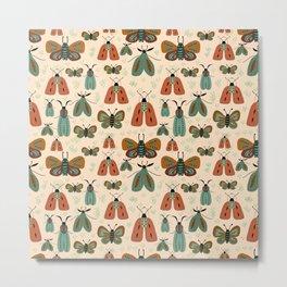 Minty butterflies Metal Print