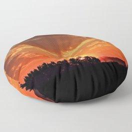 Idaho Sunset Floor Pillow