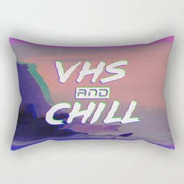 VHS and CHILL Rectangular Pillow
