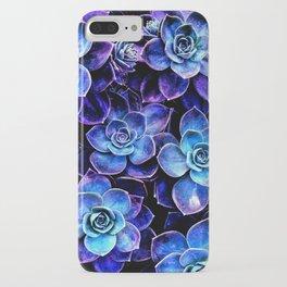 Succulent Garden Turquoise Purple iPhone Case