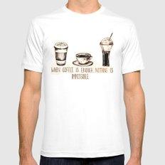 Coffee empowerment  Mens Fitted Tee White MEDIUM