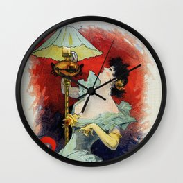 Saxoleine lamp oil ad Wall Clock