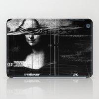 mona lisa iPad Cases featuring Mona Lisa Glitch by nicebleed