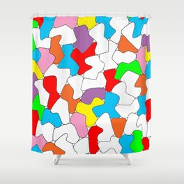 Multi-colored Shapes  Shower Curtain