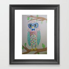 Lovely Owl Framed Art Print