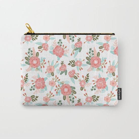 Trendy florals abstract painting gender neutral spring summer gardener gardening garden flowers Carry-All Pouch