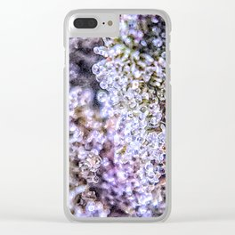 Top Shelf Grand Daddy Purple Close Up Buds Trichomes View Clear iPhone Case