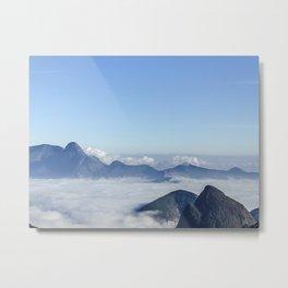 Mar de nuvens Metal Print