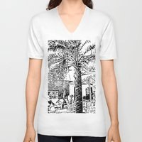 palm tree V-neck T-shirts featuring Palm tree by ArteGo