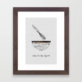 Whip It Good, Music Quote Framed Art Print