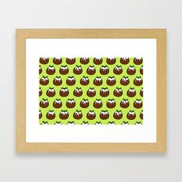 Christmas Pudding Pattern Framed Art Print