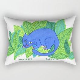 The Blue Panther Rectangular Pillow