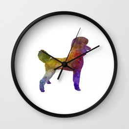 Poodle 01 in watercolor Wall Clock