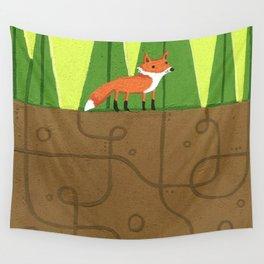 Earth Fox Wall Tapestry