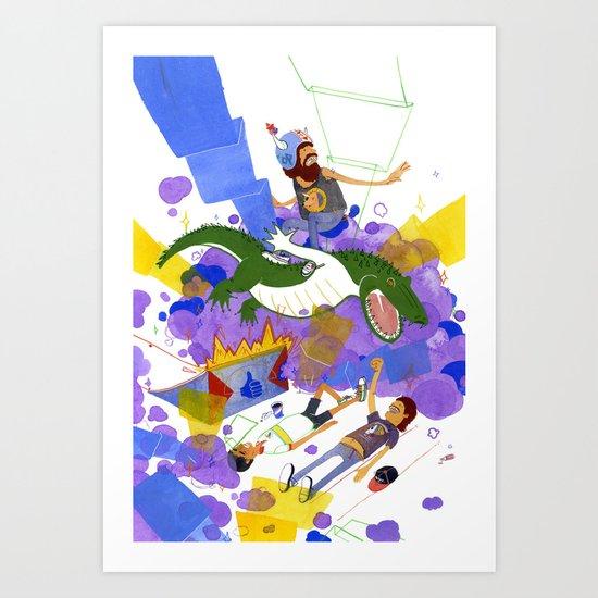 New Record Art Print
