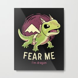 I'm Dragon Metal Print