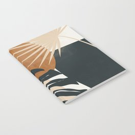 Abstract Art Tropical Leaves 7 Notebook