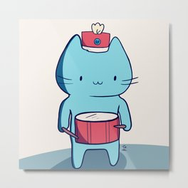 Drummer kitten Metal Print