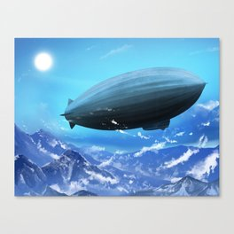 Rigid airship Canvas Print