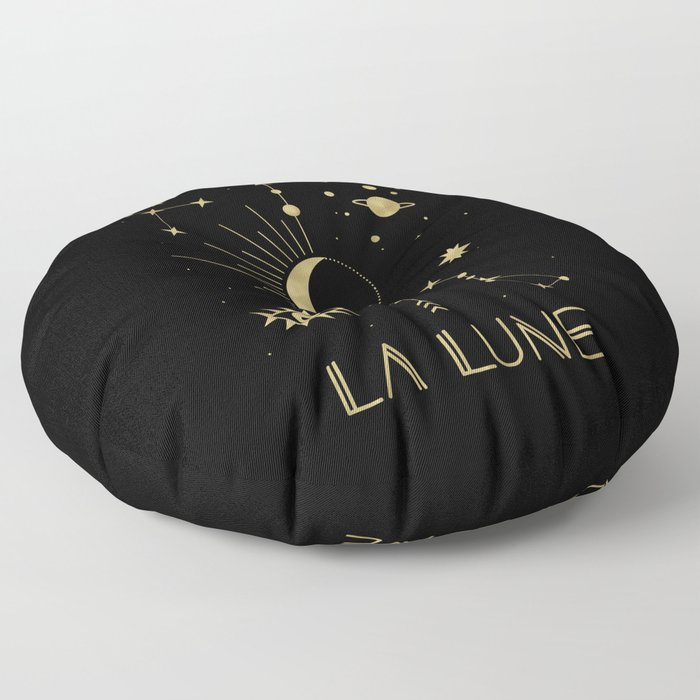 The Moon or La Lune Gold Edition Floor Pillow