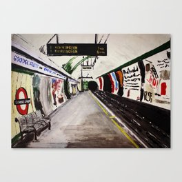 London Underground Goodge Street Canvas Print