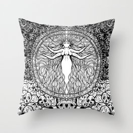 Hail to the pig Throw Pillow