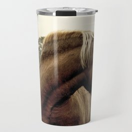 brown horse on the hill Travel Mug