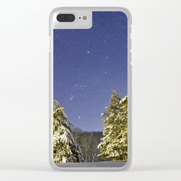 The calming Cosmos after the storm Clear iPhone Case