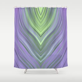 stripes wave pattern 3 cl Shower Curtain