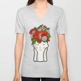 Holidays in my hair - don't care Unisex V-Neck