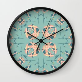 Mirrored Floral Wall Clock