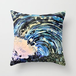 Where the Sea Breaks its Back Throw Pillow