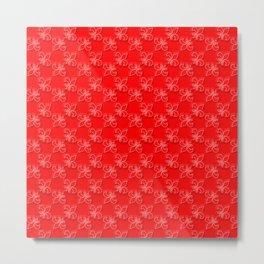 Red dress run 2 Fleur Metal Print