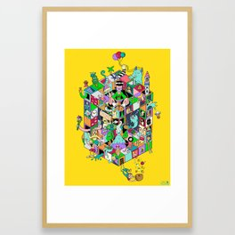 Isometric Playground Framed Art Print