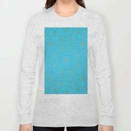 Moroccan Nights - Gold Teal Mandala Pattern - Mix & Match with Simplicity of Life Long Sleeve T-shirt