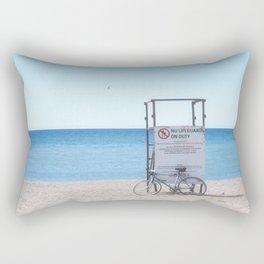 BIKE AT SUMMER BEACH Rectangular Pillow