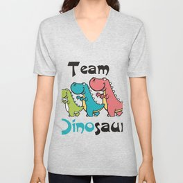 Team Dinosaur (3) Unisex V-Neck